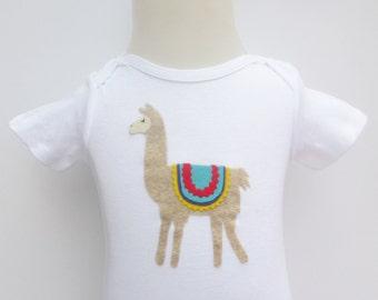 Llama Onesie or Toddler Shirt