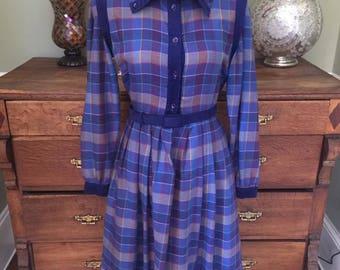 Vintage 1970's Marion Donaldson Dress.  Size 10/12