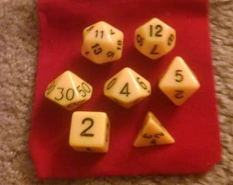 Caution Yellow - 7 Die Polyhedral Set with Pouch