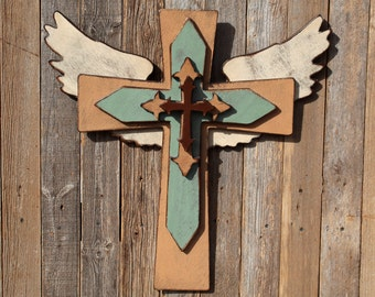 Custom Wall Crosses Godparent Gift Wood Christian Sign Christian Wall Art Rustic Wooden Cross Large Wooden Cross Wood Cross Custom Crosses