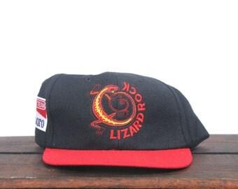 Vintage 90's Lizard Rock Marlboro Adventure Team Tobacco Cigarettes Trucker Hat Strapback Baseball Cap