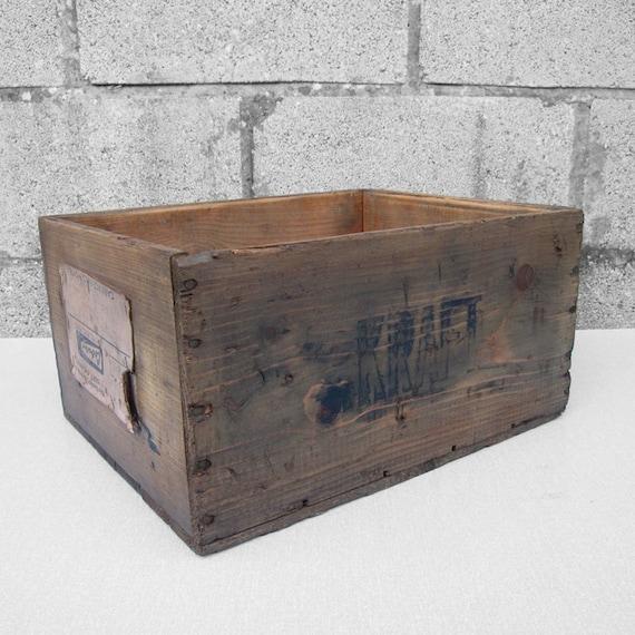 Rustic Kraft Cheese Crate Pine Box Storage Display