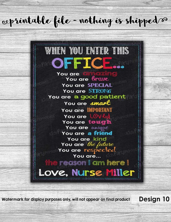 School NURSE Sign School Nurse Office Decor PRINTABLE School