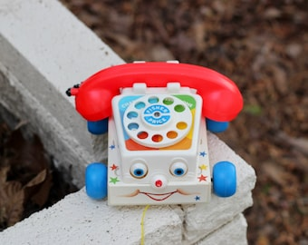 Vintage Fisher Price Chatter Telephone Pull Toy Excellent Condition / 1985 Chatter Telephone / Telephone Pull Toy / Fisher Price Pull Toy