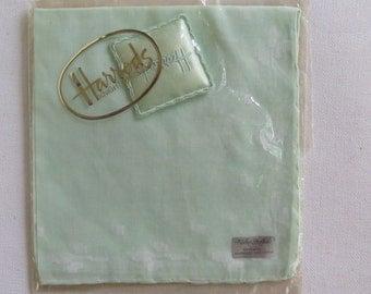 Vintage Handkerchief//Swiss Handkerchief//Harrod's Handkerchief
