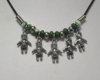 Teddy Bear charm necklace