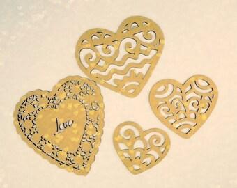 MDF Valentine's hearts