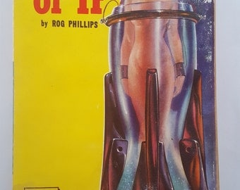 Vintage 1951 Pulp Science Fiction novel World of If by Rog Phillips, Merit Books