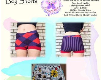 PDF Pattern Mama's Hipster Boy Shorts ~ Woman's Edition
