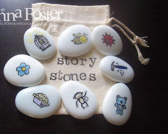 Story Stones Birds and Bees