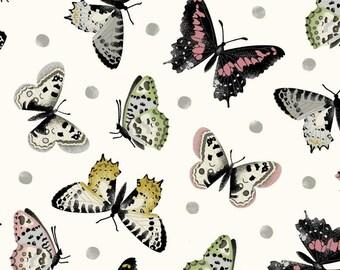 Salon Fleur~Butterflies~Cotton Fabric, Quilt, by Studio E ,Fast Shipping, N389