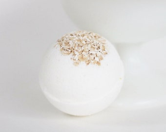 1 Oatmeal, Milk, honey bath bomb