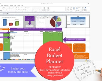 Excel Budget Planner | Simple Budget | Detailed Budget Planning | Easy Budget | Excel Download