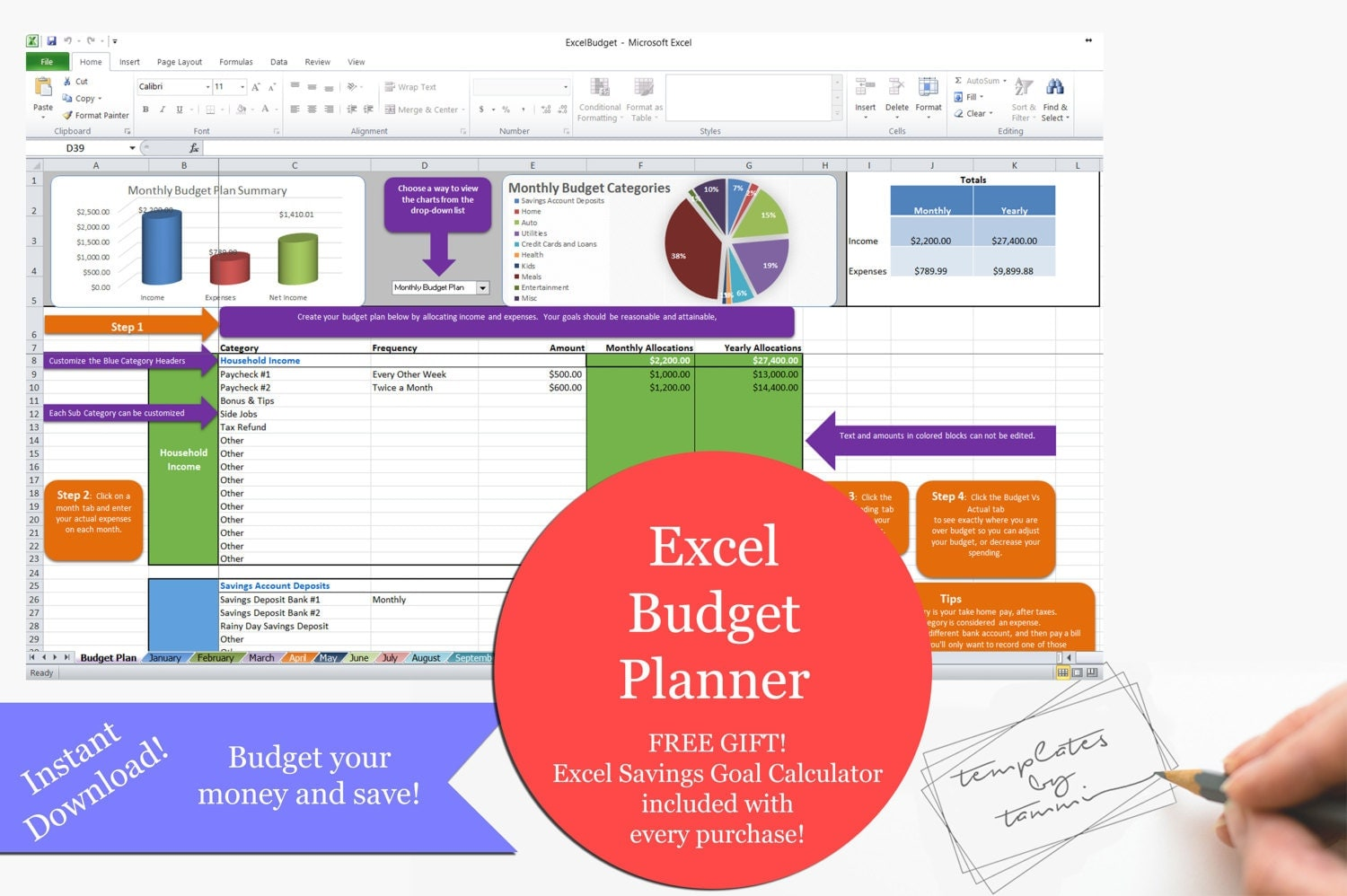 Easy Excel Budget Template
