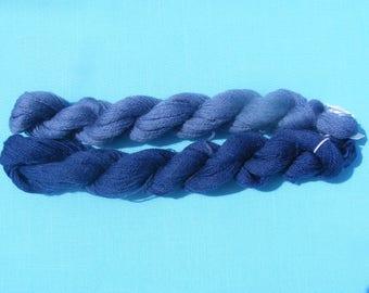 Appleton Crewel Wool Yarn - Shades of Blue -180 yard each(2 hanks)