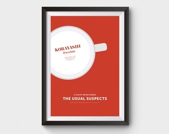 The Usual Suspects -  movie, film poster, minimalist movie poster, typography, kobayashi, kevin spacey, usual suspects, crime, movie poster