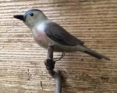 Reserved for James. Folk Art Wood Carved Bird