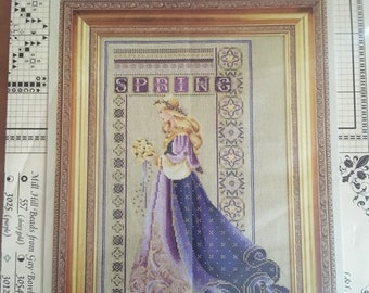 Lavender and Lace Celtic Spring Cross Stitch Pattern