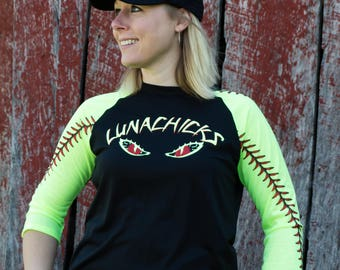 Lunachicks 3/4 sleeve softball shirt