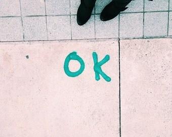 "ok  || 5x7"" photograph"