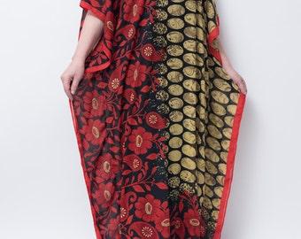 Caftan kaftan abaya women's resort wear. Sheer chiffon fabric.