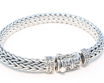 Noble ornament ornamented 925 silver bracelet