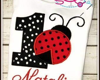 Personlized Ladybug Themed Birthday Shirt/Onesie