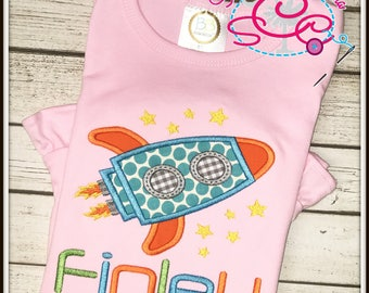Personalized Rocket Ship Shirt/Bodysuit