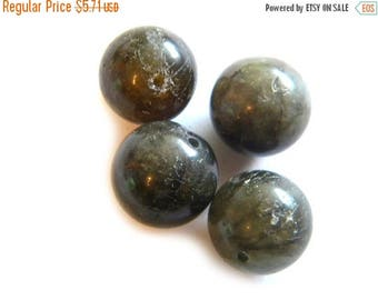 HALF PRICE 4mm Labradorite 14mm Beads