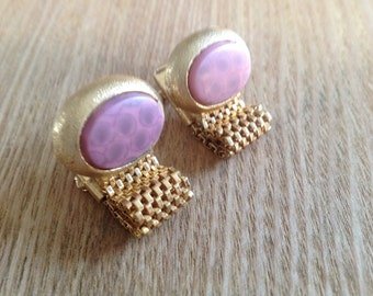 Unique vintage wrap around cufflinks detailed mounting and very unusual stones