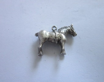 Vintage Sterling Silver Full Bodied Solid Sterling Silver Horse Charm