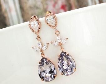 Mauve Earrings Mauve Bridesmaid Earring Mauve Jewelry, Lavender, Violet, Lilac, Light Purple, Lilac Bridesmaid Earrings Lavender Bridesmaid