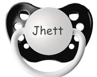 Customized Boy Binky - Jhett Pacifier - Little Boy Pacifier - Boy Custom Dummy - Boy Personalize Pacifier - Baby Paci With Name - Soother
