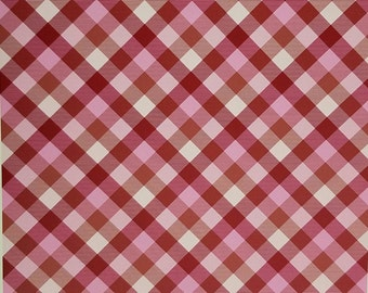 Burgundy and pink plaid craft  vinyl sheet - HTV or Adhesive Vinyl -  Valentine's Day HTV1850