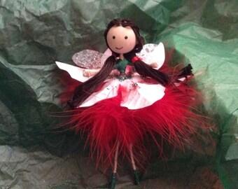 """Handmade Fairy- """"Christmas with Dark brown hair"""""""