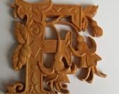 Wooden Letter F + Fuchsia...