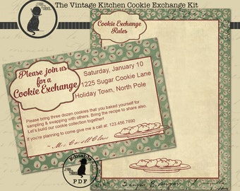 Cookie Exchange Kit, Cookie Swap Kit, Cookie Exchange Party Kit, Christmas Cookie Exchange Kit, Christmas Cookie Exchange Kit