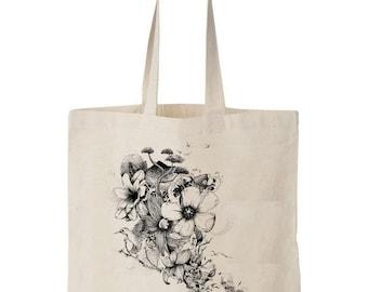 Tote bag Flowers Blow