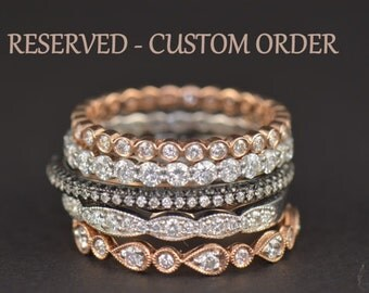 Custom Order for Ricky! Payment 1 of 2! Ariel - Diamond Eternity Band in 18k Rose Gold, Size 7