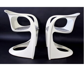 Mid Century Modern Pair of Modernistic Chairs By Alexander Begge For Casala