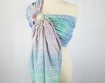 Lots of Love Festo Wrap Conversion Ring Sling Newborn, Baby, Toddler Carrier - ComfyCutie Hybrid Gathered Pleated Shoulder