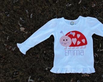 Lovebug Valentine Shirt; Vinyl Valentine Shirt; Toddler Girl Valentine Shirt; Baby Girl Valentine Shirt; Girl Valentine Shirt