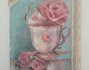 "Shabby little picture ""Roseandteacup"""