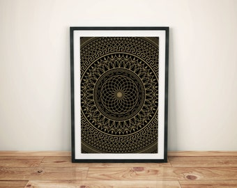 Mandala Series - Infinity - Limited Edition Screen Print by XLUSIV