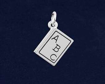 10 ABC Book Charms in a Bag (10 Charms) (C-04-TS)