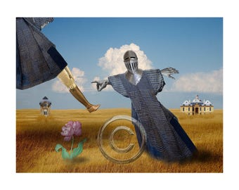 Landscape 1 ,  Inkjet print 12x9 image on 14x11  archival paper