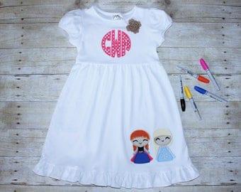 Frozen Disney Girls Ruffle Dress