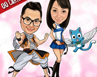 2 Persons Custom Caricature from Photo (style#01)