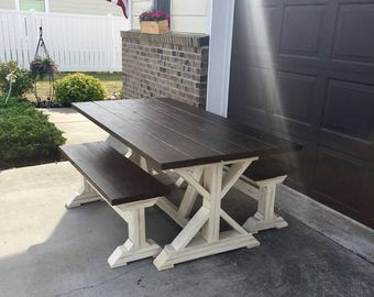 6ft Farmtable with bench - Local pick up