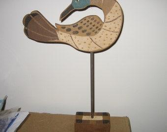 Vintage SUSAN DAUL FRAKTUR Folk Art Bird, Matthews, North Carolina